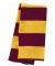 SP02 Sportsman  - Rugby Striped Knit Scarf -  Cardinal/ Gold