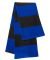 SP02 Sportsman  - Rugby Striped Knit Scarf -  Royal/ Charcoal