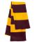 SP02 Sportsman  - Rugby Striped Knit Scarf -  Maroon/ Gold