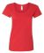 Gildan 64550L Softstyle Women's Deep Scoopneck T-S RED