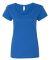 Gildan 64550L Softstyle Women's Deep Scoopneck T-S ROYAL