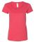 Gildan 64550L Softstyle Women's Deep Scoopneck T-S HEATHER RED