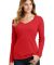 Port & Co LPC450VLS mpany   Ladies Long Sleeve Fan Bright Red