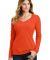 Port & Co LPC450VLS mpany   Ladies Long Sleeve Fan Orange