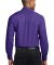 Port Authority TLS608    Tall Long Sleeve Easy Car Purple/Lt Stn