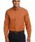 Port Authority TLS608    Tall Long Sleeve Easy Car Tex Orng/Lt St