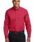 Port Authority S608ES    Extended Size Long Sleeve Red/Lt Stone