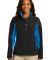 Port Authority L318    Ladies Core Colorblock Soft Black/Imp Blue