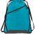 Port Authority BG616    Zip-It Cinch Pack Tropic Blue/Bk