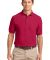 Port Authority TLK500P    Tall Silk Touch Polo wit Red
