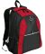 Port Authority BG1020    Contrast Honeycomb Backpa Red/Black
