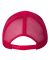 Valucap 8804H Five-Panel Trucker Cap Red