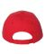 Valucap VC350 Unstructured Washed Chino Twill Cap Red