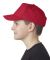 UltraClub 8120Y Youth Classic Cut Cotton Twill 5-P RED