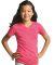 LAT 2607 Girls' V-Neck Fine Jersey T-Shirt Catalog