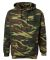 3969 Code V Camouflage Pullover Hooded Sweatshirt  Green Woodland