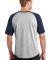 Sport Tek T201 Sport-Tek Short Sleeve Colorblock R Grey He/Navy