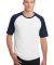 Sport Tek T201 Sport-Tek Short Sleeve Colorblock R White/Navy