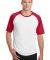 Sport Tek T201 Sport-Tek Short Sleeve Colorblock R White/Red