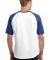 Sport Tek T201 Sport-Tek Short Sleeve Colorblock R White/Royal