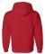 12500 Gildan 9.3 oz. Ultra Blend® 50/50 Hood RED