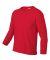 2400B  Gildan Youth 6.1 oz. Ultra Cotton® Long-Sl RED