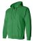 18600 Gildan 7.75 oz. Heavy Blend™ 50/50 Full-Zi IRISH GREEN