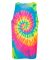 Dyenomite 420MS Multi-Color Spiral Unisex Tank Top Flo Rainbow