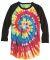 Dyenomite 660VR Tie-Dyed Three-Quarter Sleeve Raglan T-Shirt Catalog
