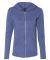 49 6759L Triblend Women's Hooded Full-Zip T-Shirt Heather Blue