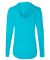 49 6759L Triblend Women's Hooded Full-Zip T-Shirt Heather Caribbean Blue