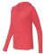 49 6759L Triblend Women's Hooded Full-Zip T-Shirt Heather Red