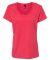 S04V Nano-T Women's V-Neck T-Shirt Heather Red