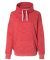 197 8673 Women's Melange Fleece Cowlneck Pullover Red