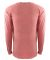 184 7451 Inspired Dye Long Sleeve Pocket Crew GUAVA