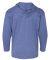 49 987B Youth Long Sleeve Hooded T-Shirt Heather Blue