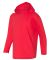 49 987B Youth Long Sleeve Hooded T-Shirt Red