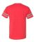 Jerzees 602MR Triblend Ringer Varsity T-Shirt Fiery Red Heather/ Oxford