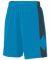 Augusta Sportswear 1715 Block Out Short POW BLUE/ SLATE