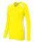 Augusta Sportswear 1305 Women's Spike Jersey POW YELLOW/ WHT