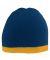 Augusta Sportswear 6820 Two-Tone Knit Beanie NAVY/ GOLD