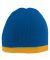 Augusta Sportswear 6820 Two-Tone Knit Beanie ROYAL/ GOLD