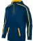 Augusta Sportswear 5555 Youth Stoked Tonal Heather NAVY/ GOLD