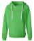 J America 8836 Women's Sueded V-Neck Hooded Sweats Lime