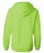J America 8836 Women's Sueded V-Neck Hooded Sweats Neon Green