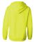 J America 8836 Women's Sueded V-Neck Hooded Sweats Neon Yellow
