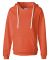 J America 8836 Women's Sueded V-Neck Hooded Sweats Neon Orange