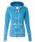 J America 8913 Women's Zen Fleece Full-Zip Hooded  Oceanberry