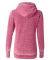 J America 8913 Women's Zen Fleece Full-Zip Hooded  Wildberry