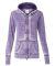 J America 8913 Women's Zen Fleece Full-Zip Hooded  Very Berry